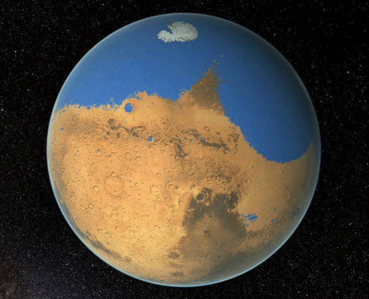 ثقب عملاق في الغلاف الجوي للمريخ يسرب مياهه إلى الفضاء