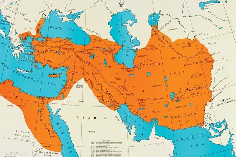 امتداد الإمبراطورية الفارسية
