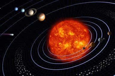حدد علماء الفلك مركز نظامنا الشمسي بنسبة خطأ لا تتجاوز 100 متر - كل جسم موجود في نظامنا الشمسي له تأثير ثقالي في الشمس - النظام الشمسي