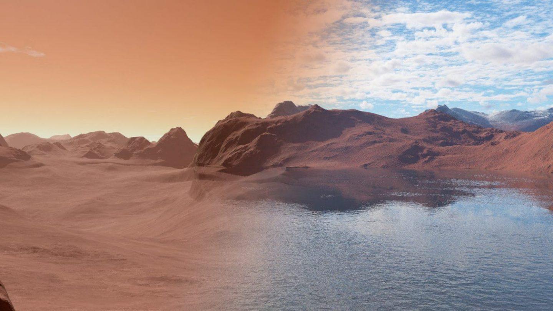 ربما احتوى المريخ في الماضي على خزانين عملاقين للماء على عمق كبير
