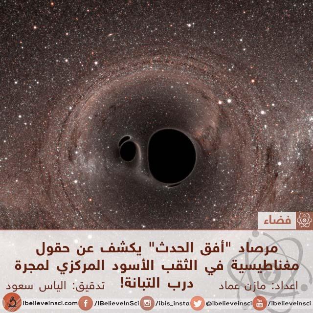 """مرصاد """"أفق الحدث"""" يكشف عن حقول مغناطيسية في الثقب الأسود المركزي لمجرة درب التبانة!"""