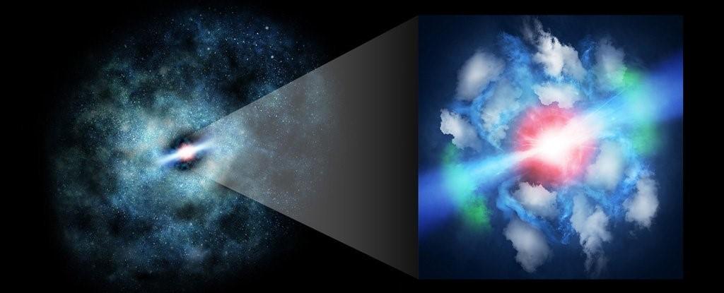 العلماء يرصدون انبعاثات نفاثة من انفجار ثقب أسود فائق الكتلة في بداية تشكل الكون - التقاط حدث نادر بالمناطق النائية من الكون