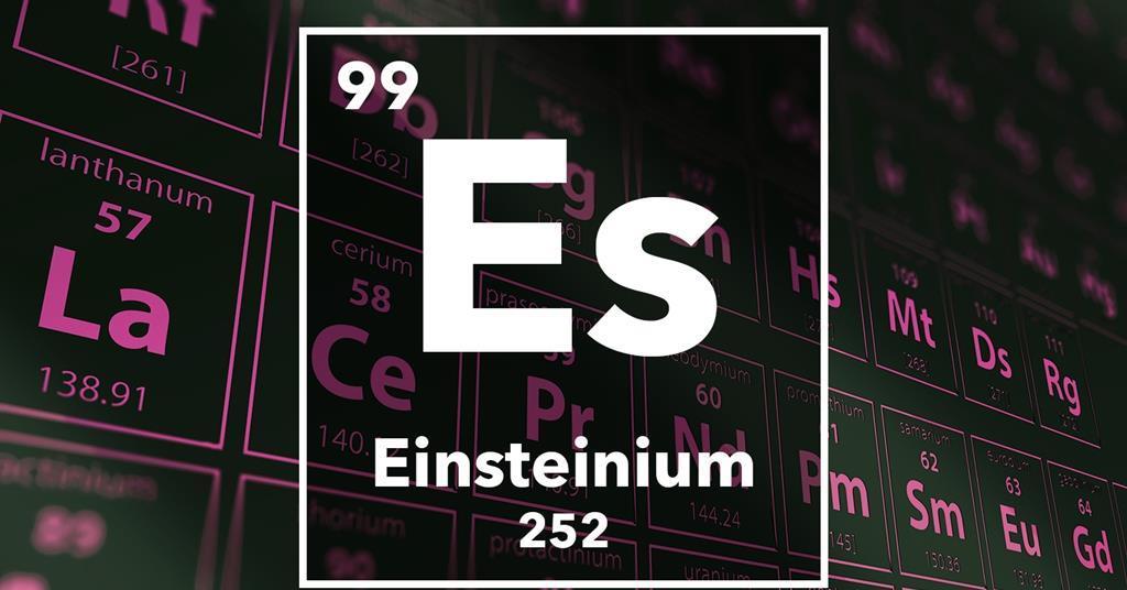 الآينشتاينيوم: أول دراسة تكشف تفاصيل هذا العنصر الغامض