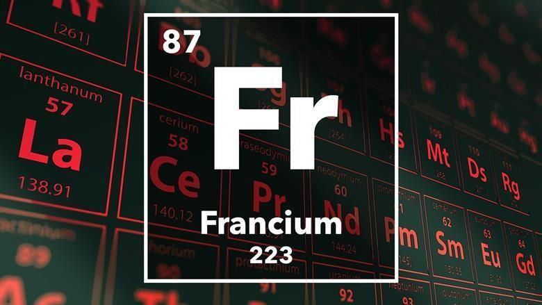 معلومات وحقائق عن عنصر الفرانسيوم - أنا أصدق العلم