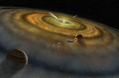 فجوة كبيرة في نظامنا الشمسي - الفجوة العظمى - تقسيم الكواكب إلى مجموعتين الانقسام الكوني - تأثير الجاذبية لكوكب المشتري - الانقسام التراكمي
