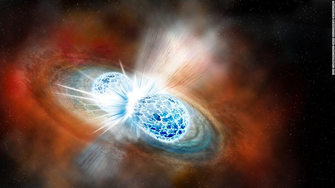 توهجات غريبة من اصطدام نجم نيوتروني ما زالت مشعة بعد سنوات من اكتشافه - تحديد أول اصطدام للنجوم النيوترونية - الأشعة السينية - النجوم النيوترونية