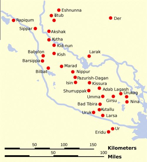 خريطة سومر وعيلام
