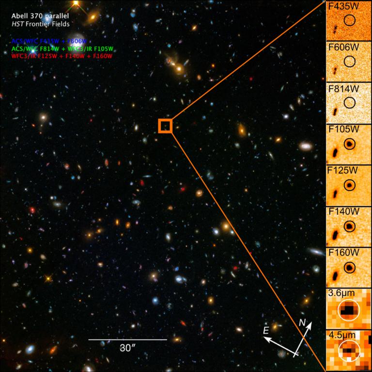 مجرة (A370p_z1) بعدسات مكبّرة