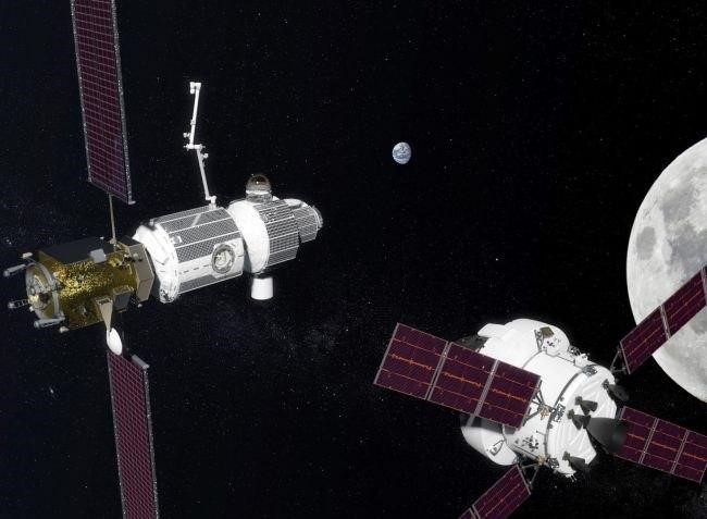 تصور فني لبوابة الفضاء العميق deep-space gateway