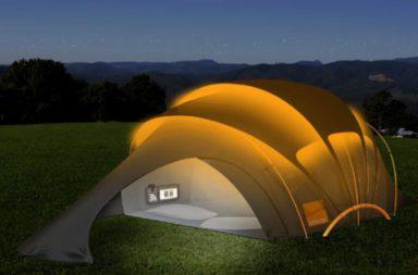 تطوير نسيج مرن لإنارة الخيام بالطاقة الشمسية - كيفية إضاءة خيمة تعمل بالطاقة الشمسية - التخييم الصديق للبيئة - توليد الكهرباء باستخدام طاقة الشمس