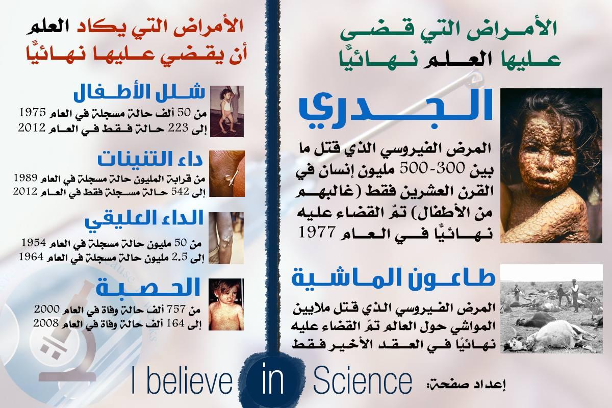 الامراض المعدية التي قضى و التي يكاد يقضي عليها العلم