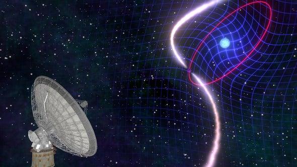 الزمكان ينحني حول نجم محتضر.. ويثبت مجددًا أن أينشتين كان محقًّا!