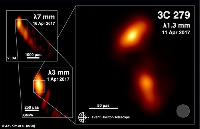 أرسل لنا رواد الفضاء صورة غير مسبوقة لمادة متدفقة من ثقب أسود - أول صورة لثقب أسود - القرص المزود (القرص التراكمي) التابع للثقب الأسود الخاص بالنجم 3C 279