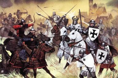 الغزو المغولي لأوروبا - كبرى المدن مثل تبليسي وكييف وفلاديمير - نهر الدانوب - جيوش جنكيز خان اكتسحت غرب آسيا حتى بحر قزوين - المغول
