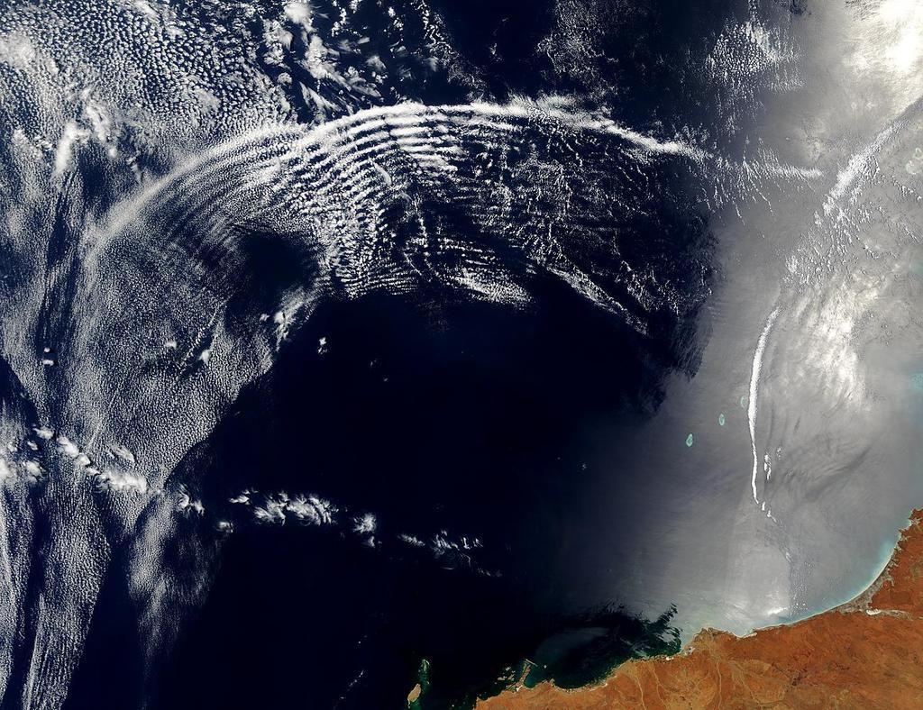 نادرًا ما يتم رصد موجات الجاذبية في الغلاف الجوي للأرض