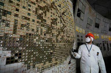 غرفة تحكم مفاعل تشيرنوبل أصبحت مفتوحة أمام الزوار غرفة التحكم الخاصة بالمفاعل رقم 4 في محطة تشيرنوبل للطاقة النووية مستويات الإشعاع