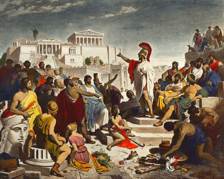 الديمقراطية في اليونان القديمة: لمحة تاريخية