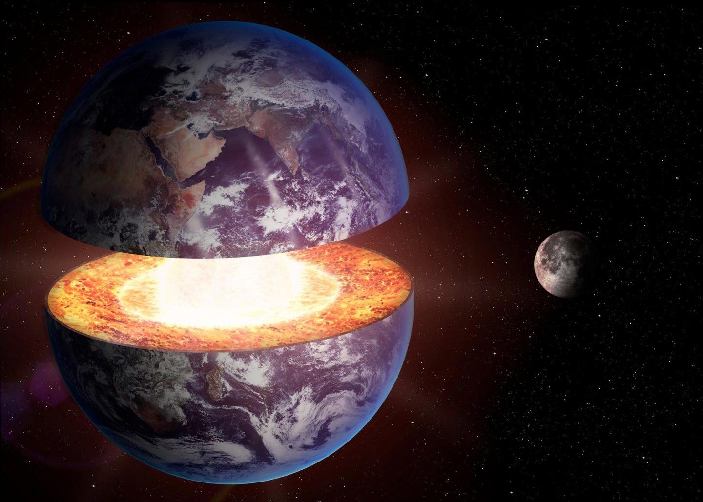 ربما التقط لب الأرض الغازات النبيلة من لفحات رياح شمسية ماضية