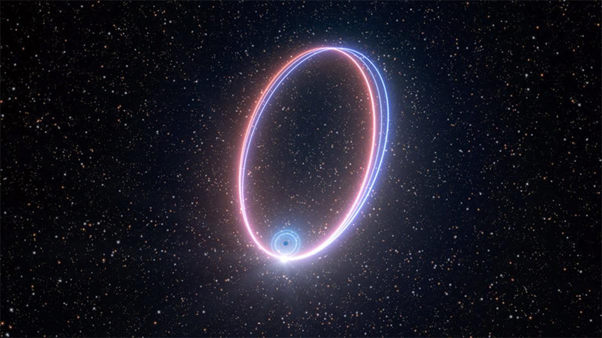 نجم يدور حول ثقب أسود يؤكد أحد تنبؤات النسبية العامة