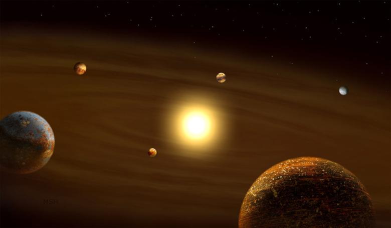 رصد نظام نجمي مكون من ستة كواكب بحالة رنين مداري
