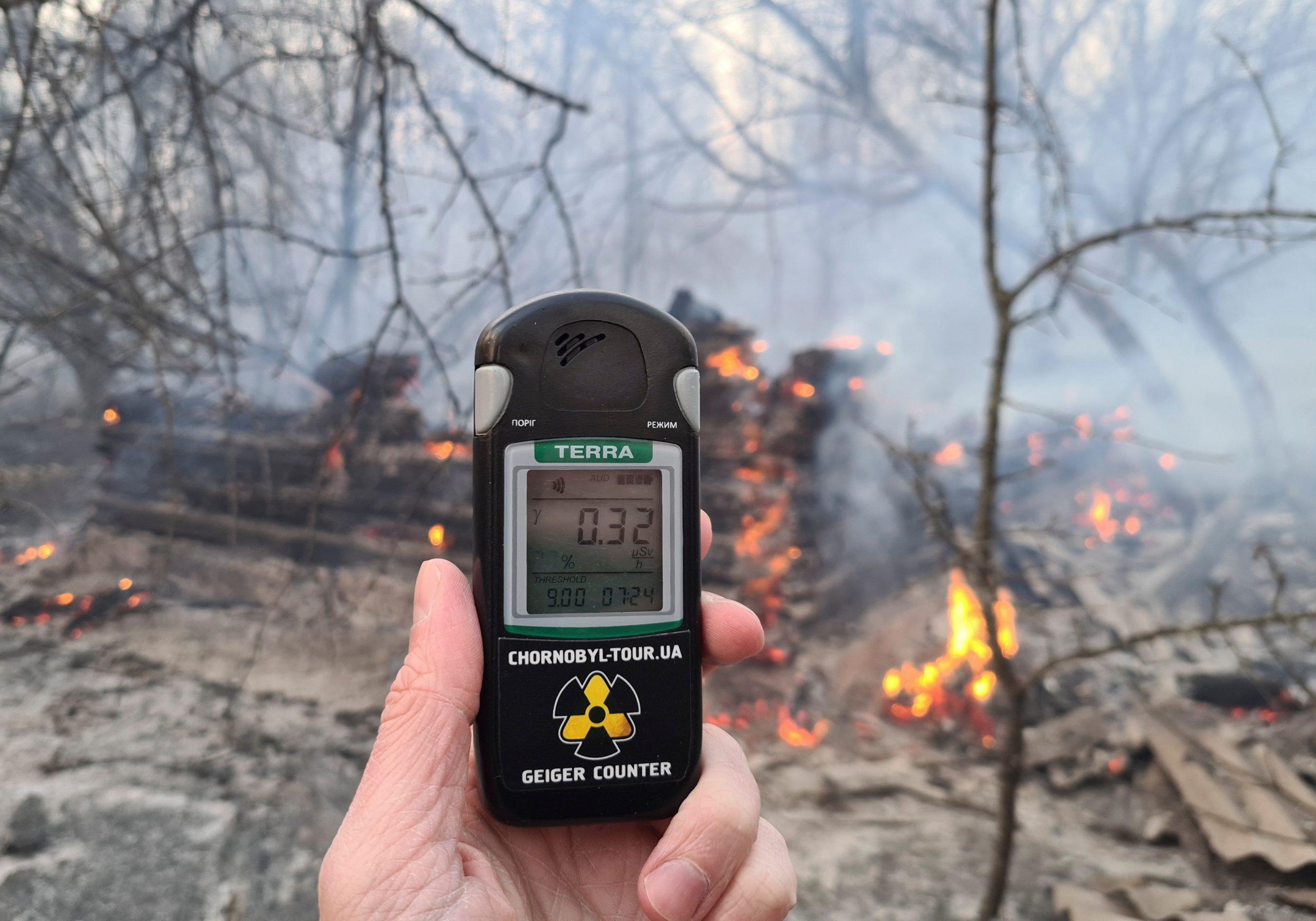 ارتفاع مستوى الإشعاع إلى ستة عشر ضعفا حول تشرنوبل بسبب حرائق الغابات المجاورة - ارتفاع نسبة الإشعاع إلى 16 مرة في تشيرنوبل