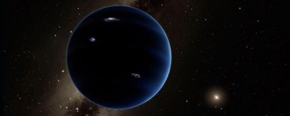 عرض فني للكوكب التاسع. (معهد كاليفورنيا للتكنولوجيا / ر. هورت / IPAC)