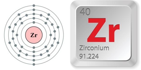 التركيب الإلكتروني لنواة الزركونيوم