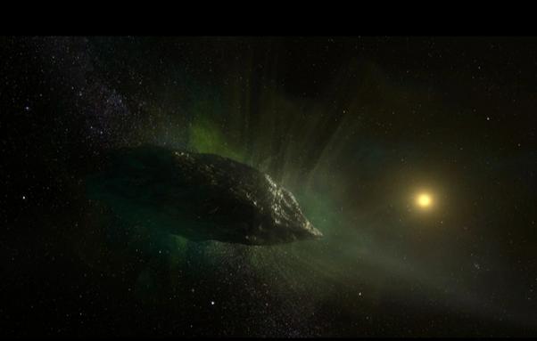 تصور فني لشكل مذنب «تو آي بوريسوف» خارج النظام الشمسي
