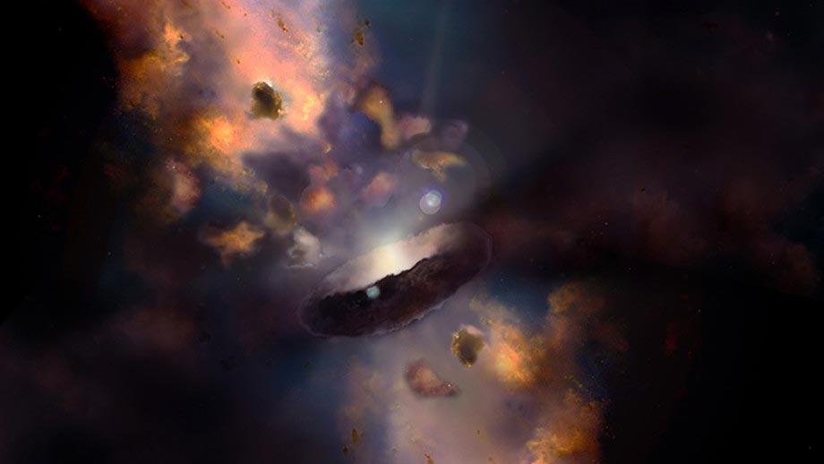 ثقب أسود جائع قد يكشف أصل عمالقة الفضاء