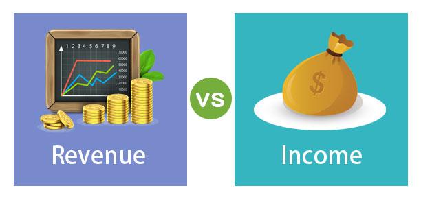 ما الفرق بين الإيرادات والدخل - الدخل الناتج عن بيع السلع أو الخدمات - السطر العلوي أعلى بيان الدّخل - إجمالي أرباح الشركة - صافي الدخل