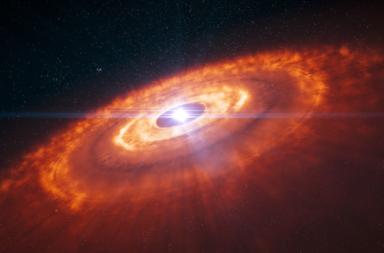 اكتشاف أصغر بنى لكواكب يافعة - المواد الكونية التي تنهار تحت تأثير جاذبيتها - النجم الأولي - مراحل تكون النجم - ظاهرة الانجراف الإشعاعي - نشأة الكواكب