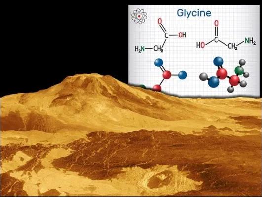 العثور على إحدى وحدات بناء البروتين في الغلاف الجوي لكوكب الزهرة - الجلايسين - العثور على أبسط أنواع الأحماض الأمينية على كوكب الزهرة