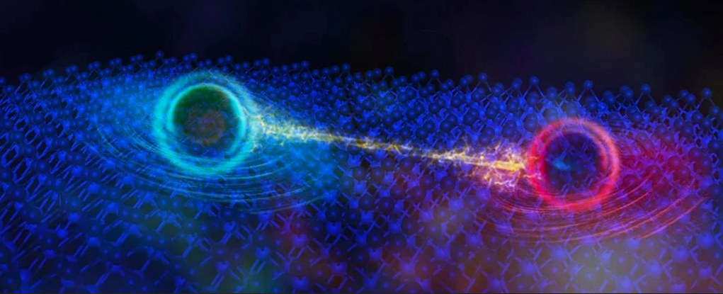 اكتشاف أدلة مثيرة تشير إلى وجود شكل أساسي جديد للمادة الكمومية - شذوذ كمومي يتمثل بإلكترونات معادن ترتد داخل مركب عازل - الفرميون المحايد - التذبذبات الكمية