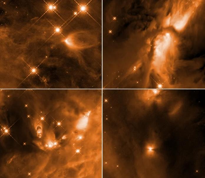 اكتشاف غير متوقع لمرصد هابل يغير فهمنا لآلية تشكل النجوم - بيانات جديدة رصدها العلماء من تلسكوب هابل الفضائي - التدفق المادي الفلكي