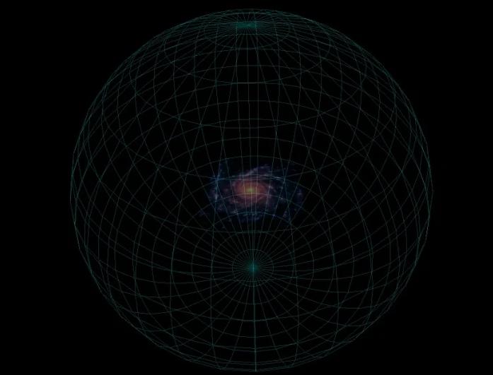 مخطط لهالة المادة المظلمة في مجرتنا