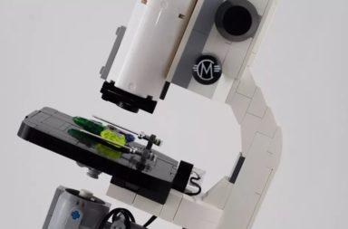 صناعة مجهر عالي الدقة باستعمال قطع الليغو - صنع فريق من الباحثين الألمان مجهرًا من الليغو Lego وبعض القطع التي استخرجت من هاتف محمول