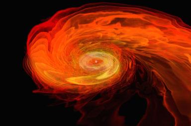 استخدام حاسوب خارق لمحاكاة 300 يوم بعد انفجار هايبرنوفا - بداية نشأة الكون - العناصر الثقيلة التي لم تتشكل في الانفجار العظيم - المستعرات العظمى