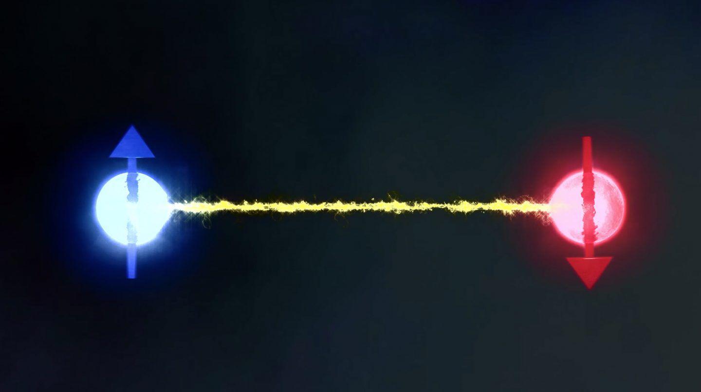 التشابك الكمومي عبر الزمن