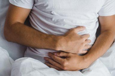تصلب «تيبس» البطن - استجابة لا إرادية لمنع الألم الناتج عن الضغط على البطن - ألم في عضلات المعدة يزداد عند لمس البطن - تيبس عضلات المعدة