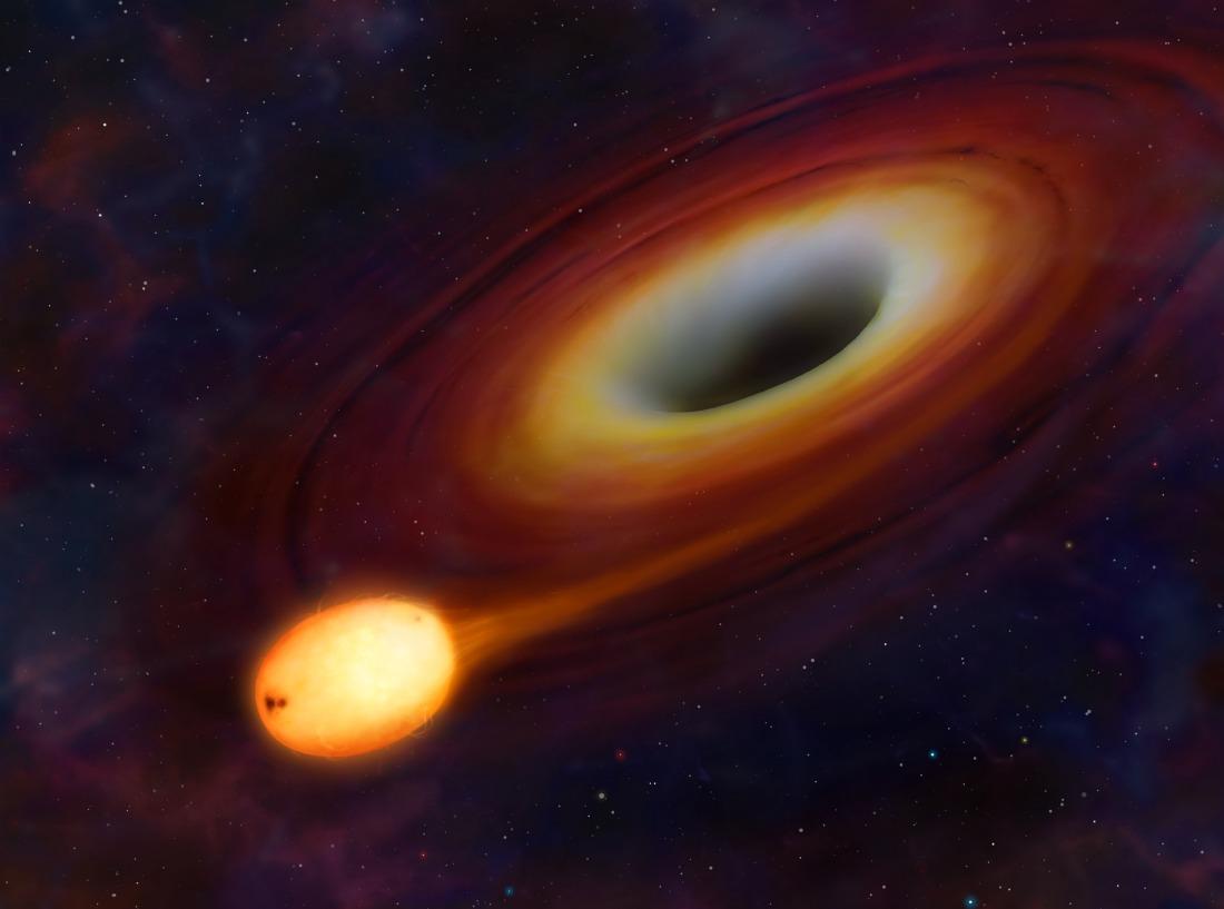 نجم استطاع النجاة من التهام ثقب أسود عملاق!