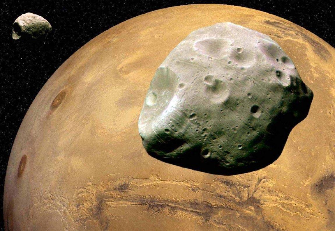 قمرا المريخ فوبوس وديموس قد يكونا بقايا قمر مفقود