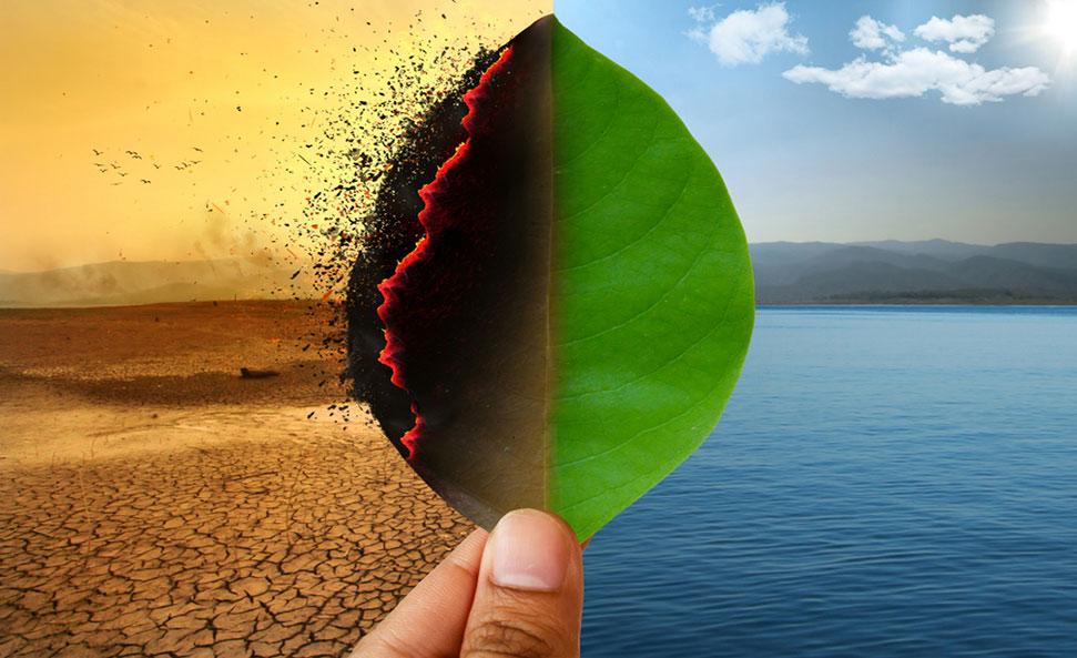 دراسة تغير المناخ