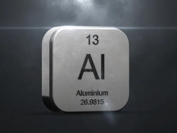 الألمنيوم هو العنصر الثالث عشر في الجدول الدوري الكيميائي