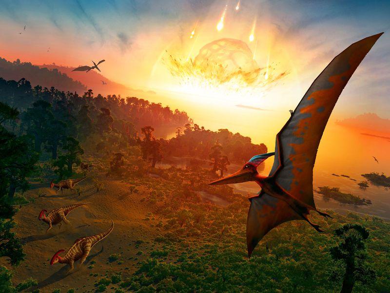 غبار الكويكب الذي أنهى سيادة الديناصورات يحل نظرية الانقراض العظيم