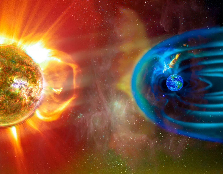 تعزف الرياح الشمسية موسيقا آسرة في الحقل المغناطيسي للأرض