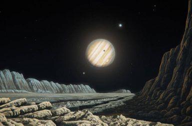 غانيميد قمر المشتري المجموعة الشمسية