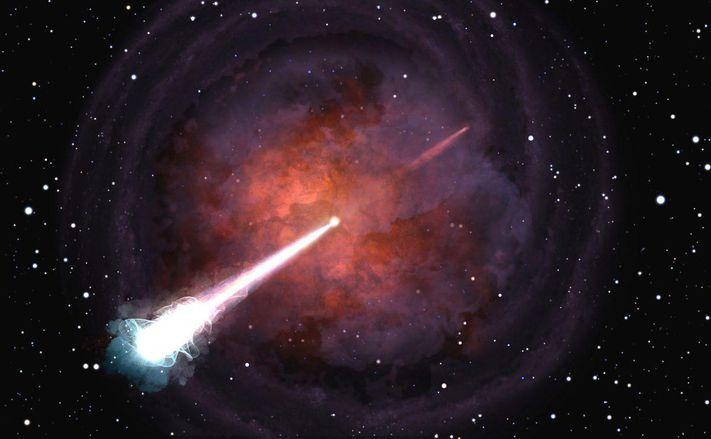 توهجات غريبة من اصطدام نجم نيوتروني ما زالت مشعة بعد سنوات من اكتشافه