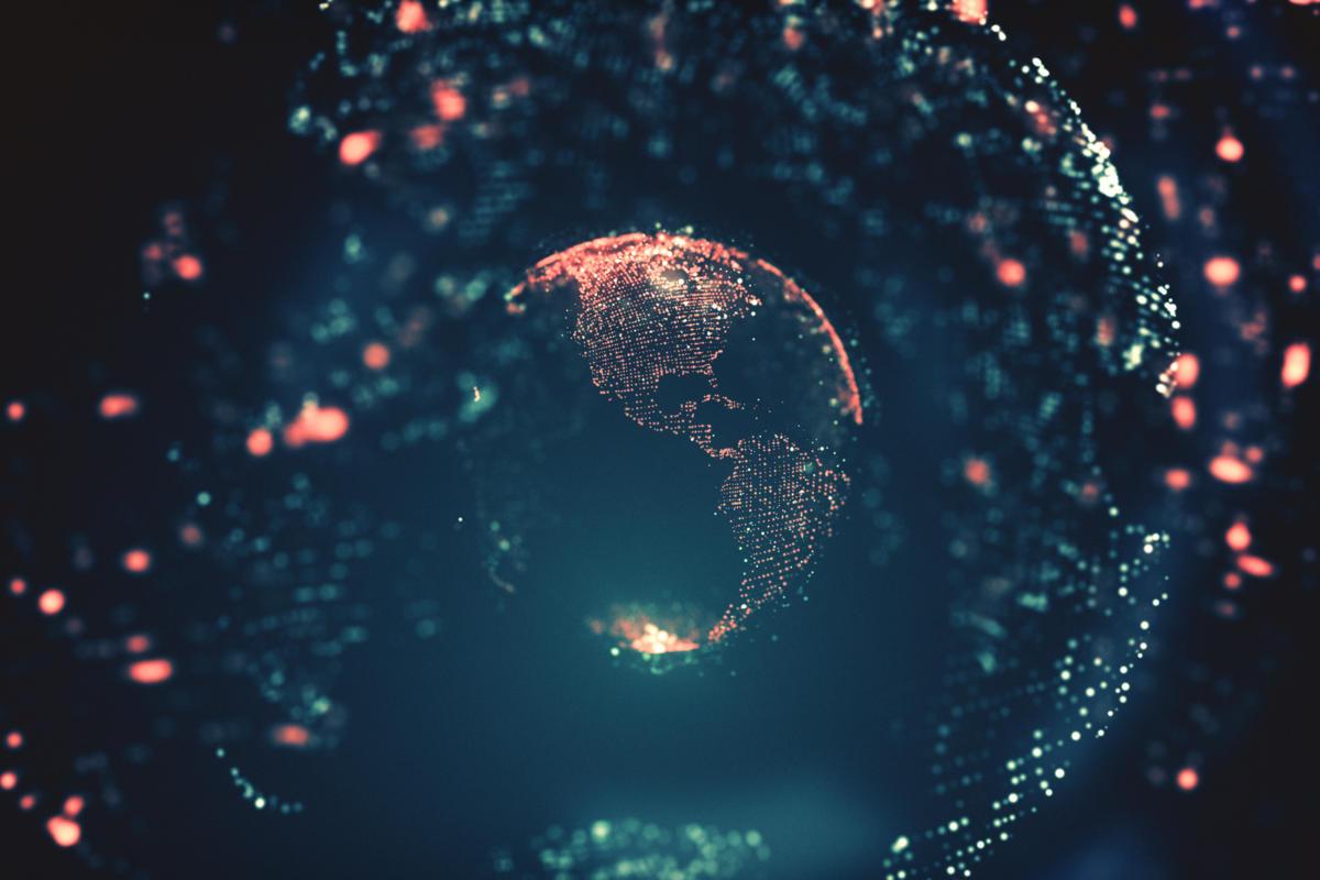 نصف ذرات الكرة الأرضية قد تكون معلومات رقمية بحلول العام 2245م