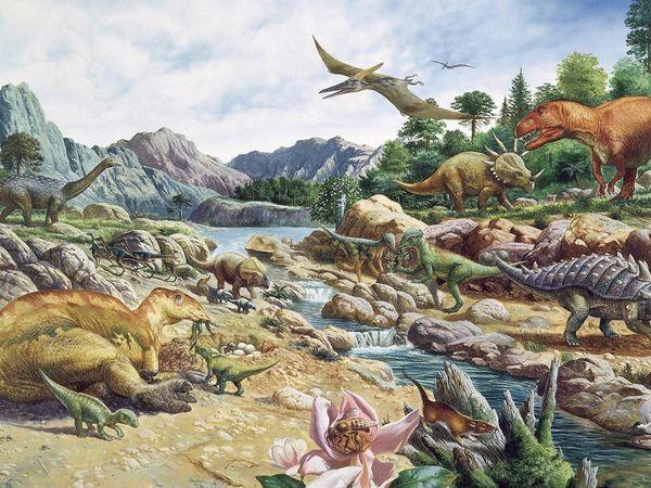 العصر الطباشيري او الكريتاسي ( انقراض الديناصورات - ظهور الثديِيات - انفصال افريقيا عن امريكا الجنوبية )