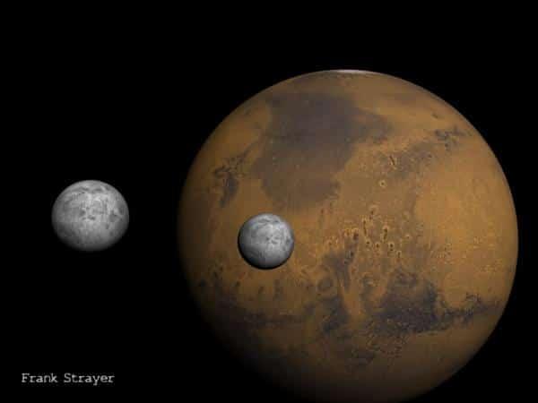 من أين أتت أقمار المريخ؟